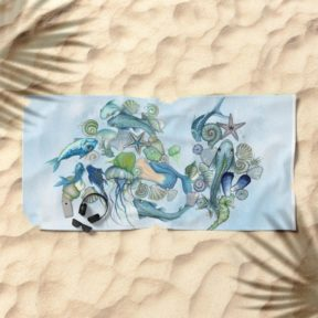 atlantis-unterwater-world-beach-towels