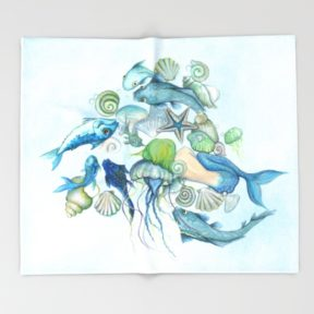 atlantis-unterwater-world-throw-blankets-1